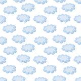 Wolken naadloos patroon Stock Fotografie
