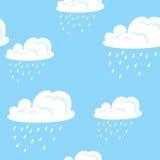 Wolken naadloos patroon Stock Afbeelding