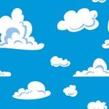 Wolken naadloos patroon Royalty-vrije Stock Foto's