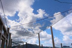 Wolken in netto Royalty-vrije Stock Afbeeldingen
