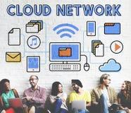 Wolken-Network Connection Daten-Informationsspeicherungs-Konzept Stockbilder