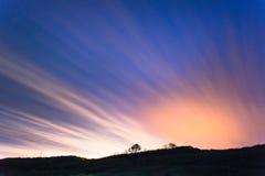 Wolken op de nachthemel Royalty-vrije Stock Foto