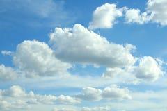 Wolken op hemel Stock Foto