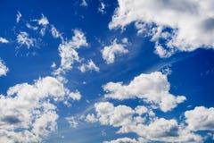 Wolken op hemel Royalty-vrije Stock Foto's