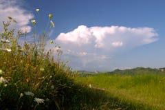 Wolken op hemel Stock Afbeeldingen