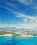 Wolken over Cala Gonone Royalty-vrije Stock Foto