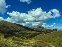 Wolken over de Andes Royalty-vrije Stock Fotografie