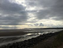 Wolken over de Baai van Swansea Stock Afbeelding