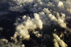 Wolken over de Bergen Royalty-vrije Stock Fotografie
