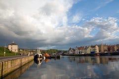 Wolken over de haven Royalty-vrije Stock Afbeelding