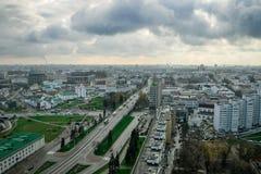Wolken over de stad Royalty-vrije Stock Fotografie
