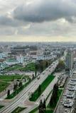 Wolken over de stad Royalty-vrije Stock Foto