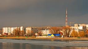 Wolken over de stad Stock Afbeeldingen