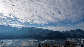 Wolken over de Tatra-Bergen stock videobeelden