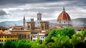 Wolken over Florence stock afbeelding