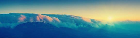 Wolken over Haphal_vintage Royalty-vrije Stock Afbeeldingen