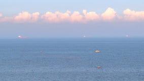 Wolken over het overzees stock footage