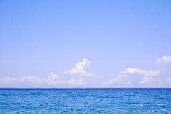 Wolken over het overzees Royalty-vrije Stock Foto's