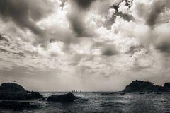 Wolken over het overzees Stock Afbeeldingen