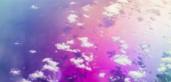 Wolken over het overzees van Kreta, luchtmening, Griekenland Royalty-vrije Stock Fotografie