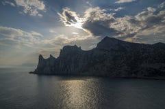 Wolken over Krimbergen Royalty-vrije Stock Afbeeldingen