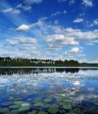 Wolken over meer Royalty-vrije Stock Afbeelding