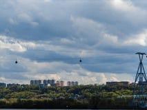Wolken over Nizhny Novgorod stock afbeelding