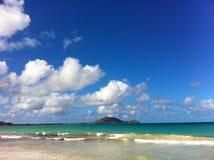 Wolken over water, Guam Royalty-vrije Stock Afbeeldingen