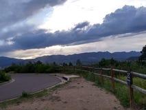 Wolken an Palmer-Park stockfotografie