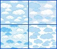 Wolken - 4 patronen Stock Foto