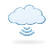 Wolken-Radioapparat-Ikone Stockfotos