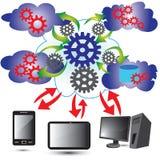 Wolken-rechnennetz vektor abbildung