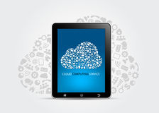 Wolken-rechnenservice-Konzept Lizenzfreies Stockbild