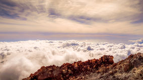 Wolken rond de top van Onderstel Teide, Tenerife Stock Afbeeldingen