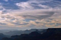 Wolken Süd-Rim Grand Canyon lizenzfreies stockbild