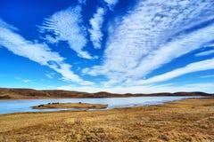Wolken in schone blauwe exorbitant Stock Afbeeldingen