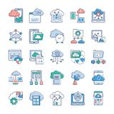 Wolken-Service-Ikonen vektor abbildung