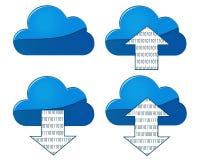 Wolken-Synchronisierung mit Richtungspfeilen Lizenzfreie Stockfotos