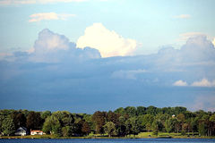 Wolken-Szene lizenzfreies stockbild