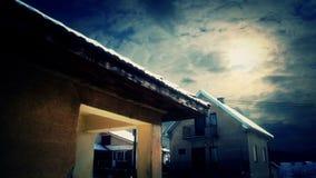 Wolken Timelapse over Huizen stock video