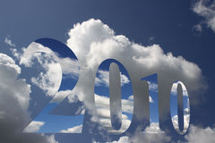 Wolken und 2010 Stockfotos