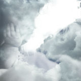 Wolken und Engel Stockfotografie