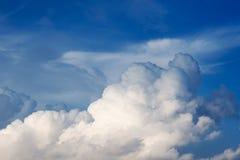 Wolken und Himmelhintergrund stockfotografie