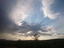 Wolken und Sonne Stockfoto