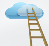 Wolken und Strichleiter Lizenzfreies Stockfoto