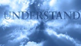 Wolken und Wörter 6 - SCHLEIFE stock footage