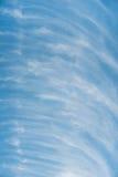 Wolken in uniek patroon Stock Afbeeldingen
