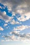 Wolken vóór zonsondergang Royalty-vrije Stock Foto's