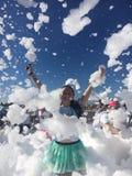 Wolken van bellen stock foto's