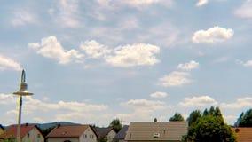 Wolken van een aanstaande onweersbui stock videobeelden